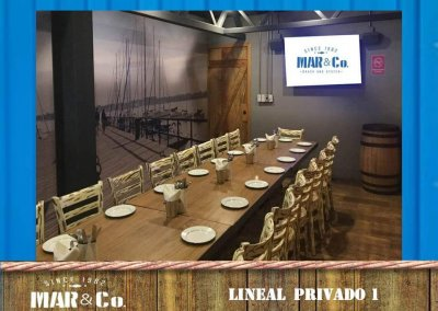 Salón privado lineal